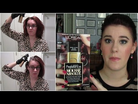 Demo & Review: L'Oreal Mousse Absolue Hair Dye [Medium Mahogany Brown 556 Color Reveal]