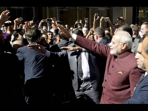 Rousing welcome for PM Narendra Modi