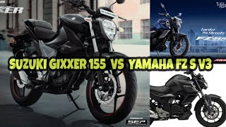 2019 Suzuki Gixxer 155  VS  Yamaha FZ S V3 Detailed Comparison | Gixxer vs FZ S V3 | K2K motovlogs