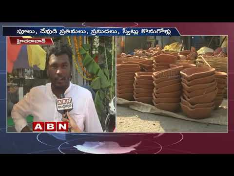 Diwali Pots and Diyas shop owner face to face about Sales in Hyderabad | Diwali 2018