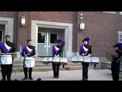 Rantoul Township High School drumline warm up '13