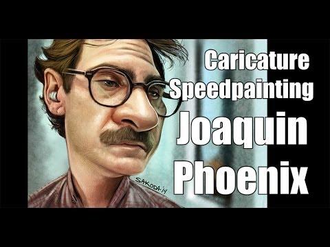 Caricature Speedpainting with Marcus: Joaquin Phoenix