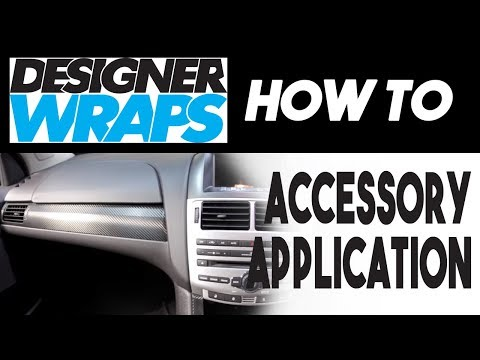 Applying 3M Designer Wrap - Interior Trim