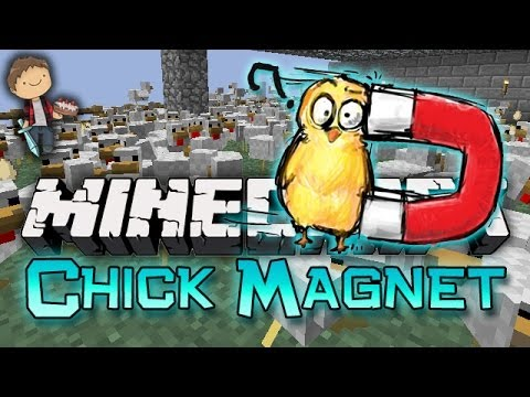 MITCH GETS ALL THE CHICKS! Minecraft: Chick Magnet Mini-Game! w/Mitch & Friends!