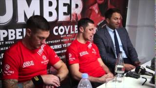 LUKE CAMPBELL v TOMMY COYLE (WITH EDDIE HEARN) - POST FIGHT PRESS CONFERENCE / RUMBLE ON THE HUMBER