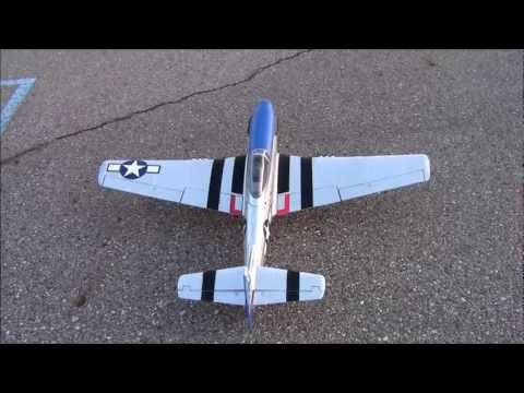 Airfield 1450mm P-51 (V2) Sunset flight with APC 13x10E 2-blade prop