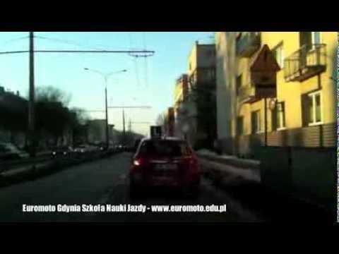 Trasy Egzaminacyjne PORD Gdynia - Nauka Jazdy - GDZIE JEŻDŻĄ EGZAMINATORZY W GDYNI-Euromoto Film 017