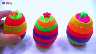 PLAY DOH SURPRISE EGGS ✔✔✔ peppa pig new toys videos 2018