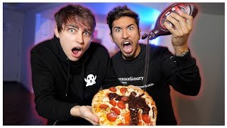 Eating Weird Food Combinations with Colby Brock (Taste Test)