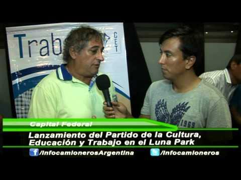 Lanzamiento del CET en el Luna Park Nota con Castro, Guaymas y Macis