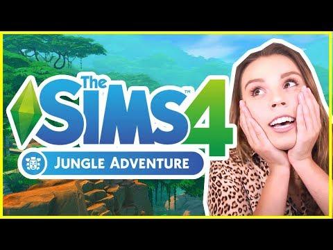 THE SIMS 4 JUNGLE ADVENTURE! [ Full Trailer Reaction ]
