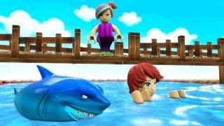 Train City Cartoon - Kids Fall Into The SHARK Pool - Train For KIDS