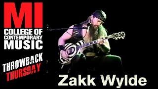 Zakk Wylde - Musicians Institute(MI)がMIにて行われた36分のライブ映像を公開 thm Music info Clip