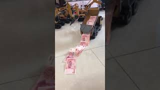 RC Matel Dump Truck dump money