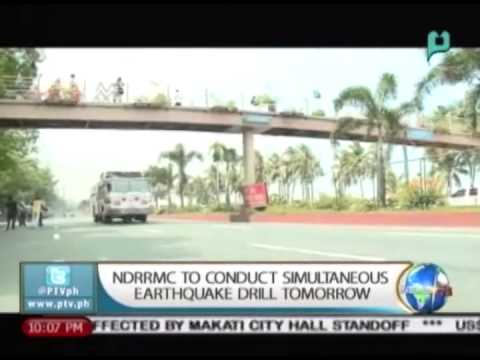 NewsLife: NDRRMC to conduct simultaneous earthquake drill tomorrow || Mar. 26, 2015