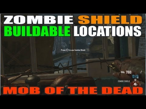 All Zombie Shield Buildable Locations: Mob Of The Dead (HD)