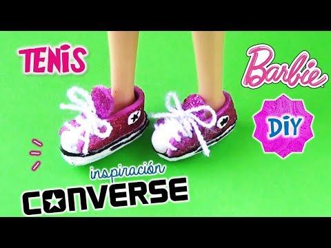 DIY ✄ Como Hacer ZAPATOS TENIS Para MUÑECAS Barbie, Monster High | Manualidades Para Muñecas
