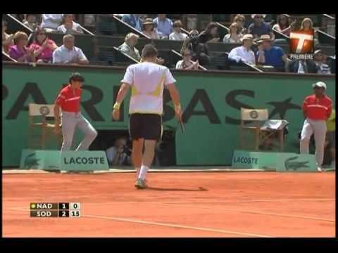 Nadal vs  Soderling 2009 french open Set 1
