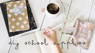 diy school supplies + free printable