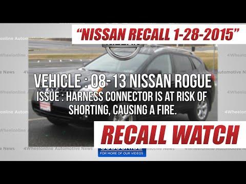Nissan Recalls 2008-13 Rogue, 13-14 Infiniti QX60, and Pathfinder : 1-28-15 Recall Watch