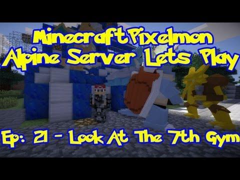 Pixelmon (Pokemon Mod) Server Lets Play - Episode 21. Look At The 7th Gym