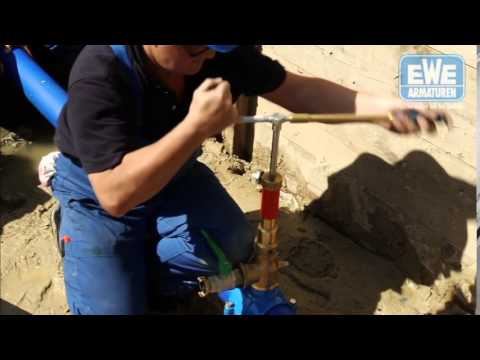 Anbohrung EWE-Kugelventil-Anbohrarmatur Auf PE-Rohr, Mit PE-Hülse