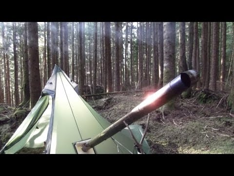 Diy winter wall tent under 7 wood stove under 4 how for Homemade wall tent frame