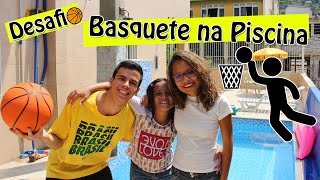 DESAFIO DO BASQUETE NA PISCINA! (ft. Juliana Baltar)