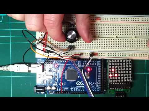 Arduino,  max7219 and 8x8 LED matrix