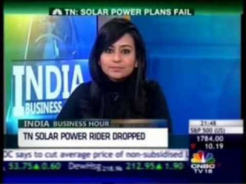 Amol Kotwal, Frost & Sullivan, TN Solar Power Plans on CNBC IBH