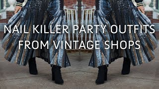COOL VINTAGE PARTY OUTFIT IDEAS | COLLAB W/ BJONES STYLE!