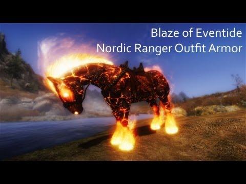 Skyrim Nordic Ranger Outfit Armor. Blaze of Eventide