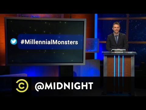 Bobby Lee, Ari Shaffir, Doug Benson - #HashtagWars - #MillennialMonsters - @midnight