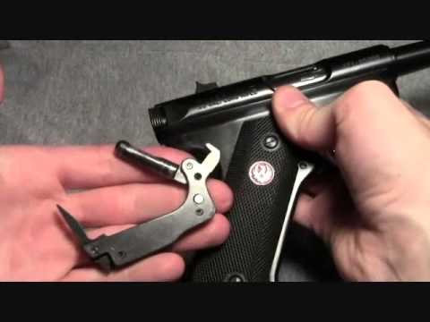 How to disassemble the Ruger Mark III pistol