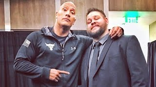 """The Rock and """"Stone Cold"""" Steve Austin backstage at Raw"""