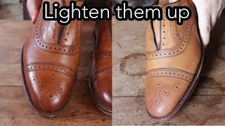 HOW TO LIGHTEN A PAIR OF SHOES