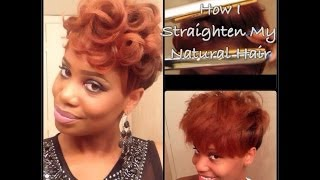 Process: How I Straighten My Tapered Natural Hair