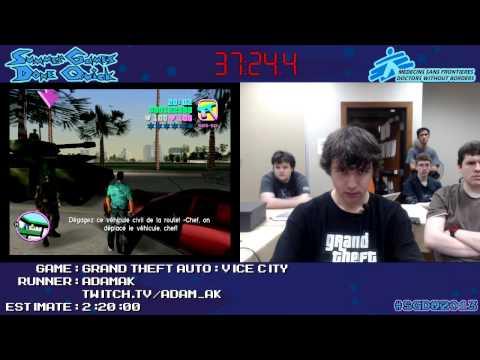 Grand Theft Auto: Vice City - Speed Run (1:56:12) by AdamAK *#SGDQ 2013* [PC]