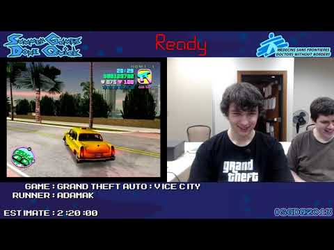 Grand Theft Auto: Vice City - Speed Run (1:56:12) by AdamAK *#SGDQ 2013* [PC]