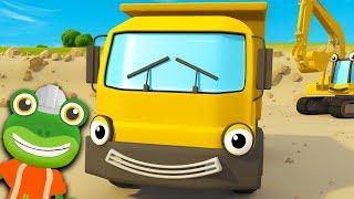 Dump Truck Song | Construction Vehicles For Kids | Kids Songs | Gecko's Garage