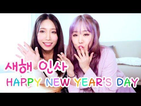 웨이브야 집에서 설날 인사 Happy New Year's Day 2018 WAVEYA