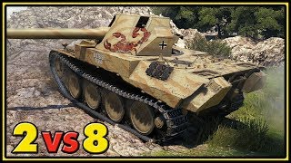 Rheinmetall Skorpion G - 11 Kills - 2 vs 8 - World of Tanks 1.0 Gameplay