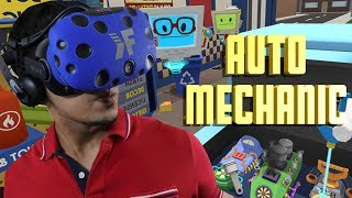 LETS PLAY JOB SIMULATOR VR - Working as a AUTO MECHANIC! DAY 2 (HTC Vive Virtual Reality) LIVE!!!