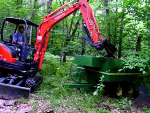Excavator wood splitter #2