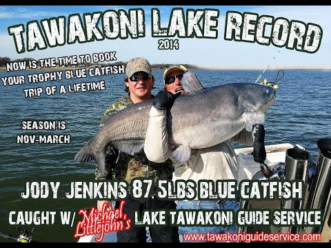 Lake Tawakoni Fishing Guide Service 903.441.3937 Bardwell Blue Cat Record - Busted! ON VIDE