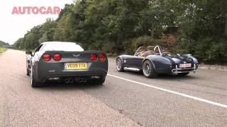 Corvette ZR1 v AC Mk6 - drag race by autocar.co.uk