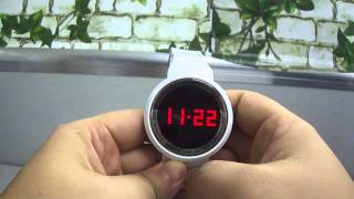 Capacitive Touch Screen Creative LED Watch for Man Woman