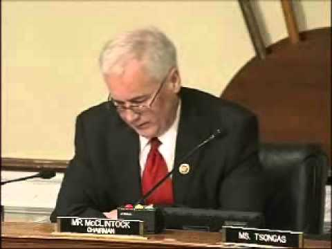 Chairman Tom McClintock opening statement at the Subcommittee on Federal Lands oversight hearing