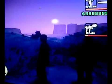 "GTA: SA - Weird Air Craft Hovering in the Dessert Near ""Area 51"""