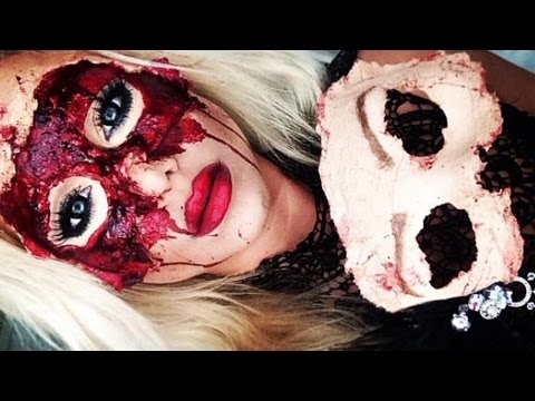 masquerade sfx mask makeup tutorial part 1